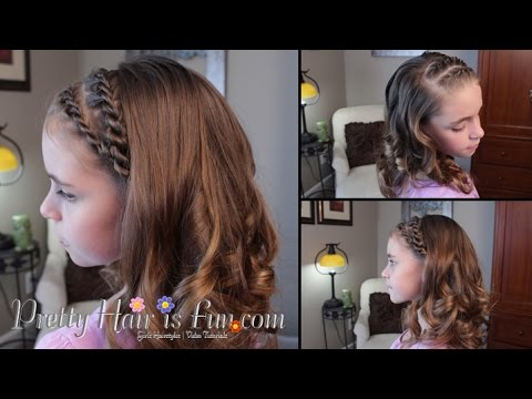 How to Make Curls With a Flat Iron Braid And Flat Iron Curls