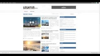 Video blog page and category set up in Legatus Theme