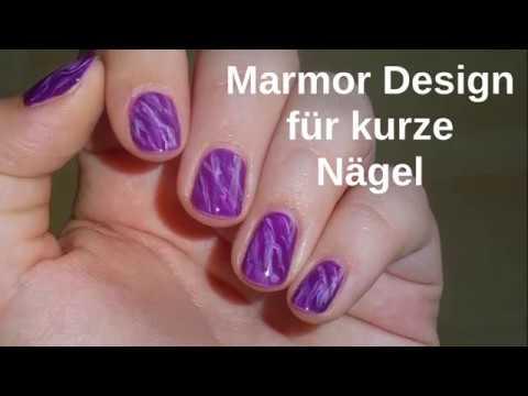 einfaches marmoriertes Design für kurze Nägel | nass auf nass Technik | easy marble nail art