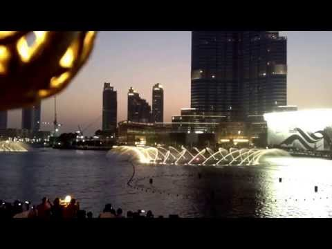 Dubai Dancing Fountain- Time to say goodbye ( Burj Khalifa Dubai...