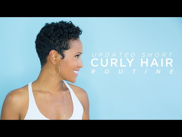 Updated Short Curly Hair Routine