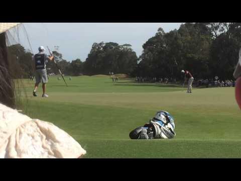 Adam Scott Final Putt Masters Melbourne Australia 23 November 2014
