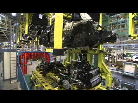 Mercedes Benz C Class Production Bremen Footage