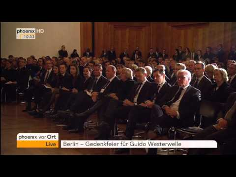 Gedenkfeier für Guido Westerwelle: Rede von Jean-Claude Juncker am 04.04.2016