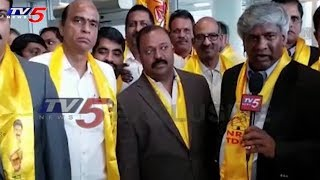 NRI TDP Activists Grandly Welcomes Chandrababu At USA