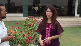 Tv anchor Fazila Saba expressing her view about State bank Spors Complex karachi