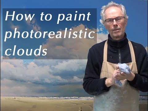How To Make Clouds In Acrylic Painting