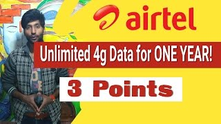 HINDI| Airtel offers UNLIMITED INTERNET for One Year!