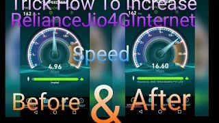 [ Without VPN ]Trick How To Increase Reliance Jio4G Internet Speed By VJ Gourav