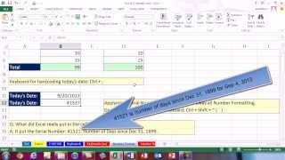 Highline Excel 2013 Class Video 01: Back To Basics: Number Format, Keyboards, PivotTables, Formulas
