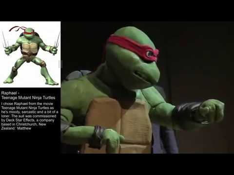 Me on stage in Raphael Teenage Mutant Ninja Turtles costume