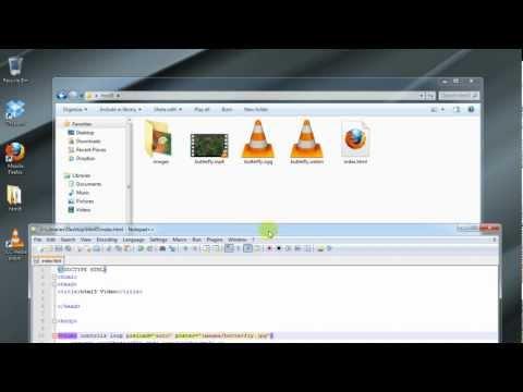 HTML5 Tutorial 2: Embedding HTML5 Videos into a Website