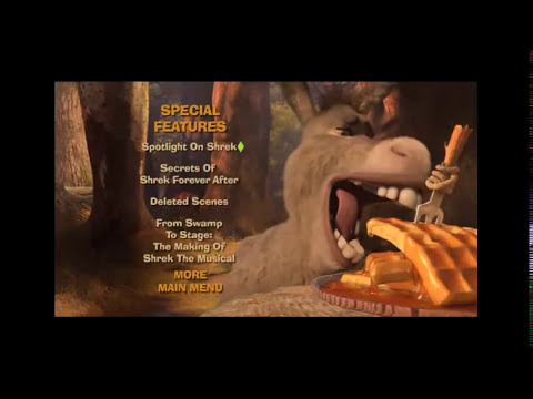 menu de shrek 4 para siempre dvd 2010