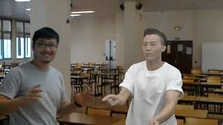 Dance Fight! Human vs Virtual Point Cloud Character (Captured by HoloLens)