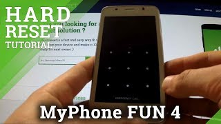 Hard Reset myPhone FUN 4 - remove pattern and password