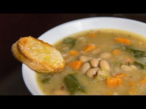Простой быстрый фасолевый суп | Рецепт