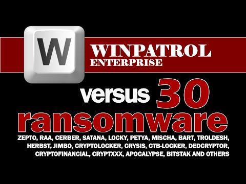 WINPATROL ENTERPRISE versus 30 Recent Ransomware, rapid fire succession