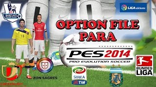 Option file completo temporada (2014/2015)  para PES 2014  de PS3
