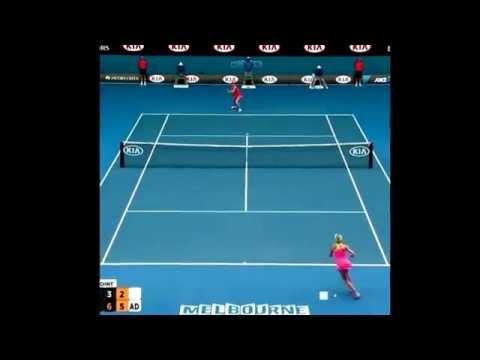 Best Point - Maria Sharapova VS Eugenie Bouchard ( Austraian Open 2015)