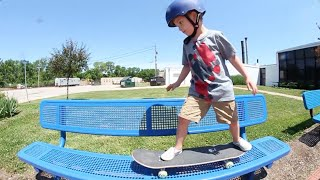 "4 YEAR OLD ""STREET SKATING"""