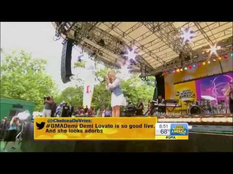 [HD] Demi Lovato Heart Attack, Made In The USA & Give Your Heart A Break Live GMA 6/28/13