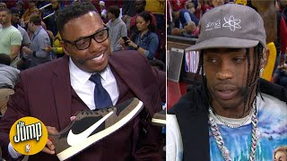 Travis Scott talks about his shoe collab with Jordan and gifts pairs to Pippen and Pierce | The Jump