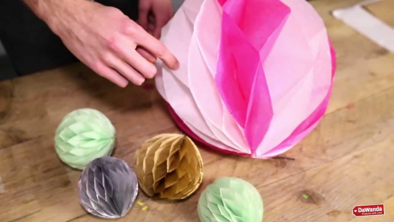 how to make tissue paper pom pom