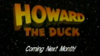 1989 - 'Howard the Duck' TV Trailer & Bumper for WXIN Saturday Movie