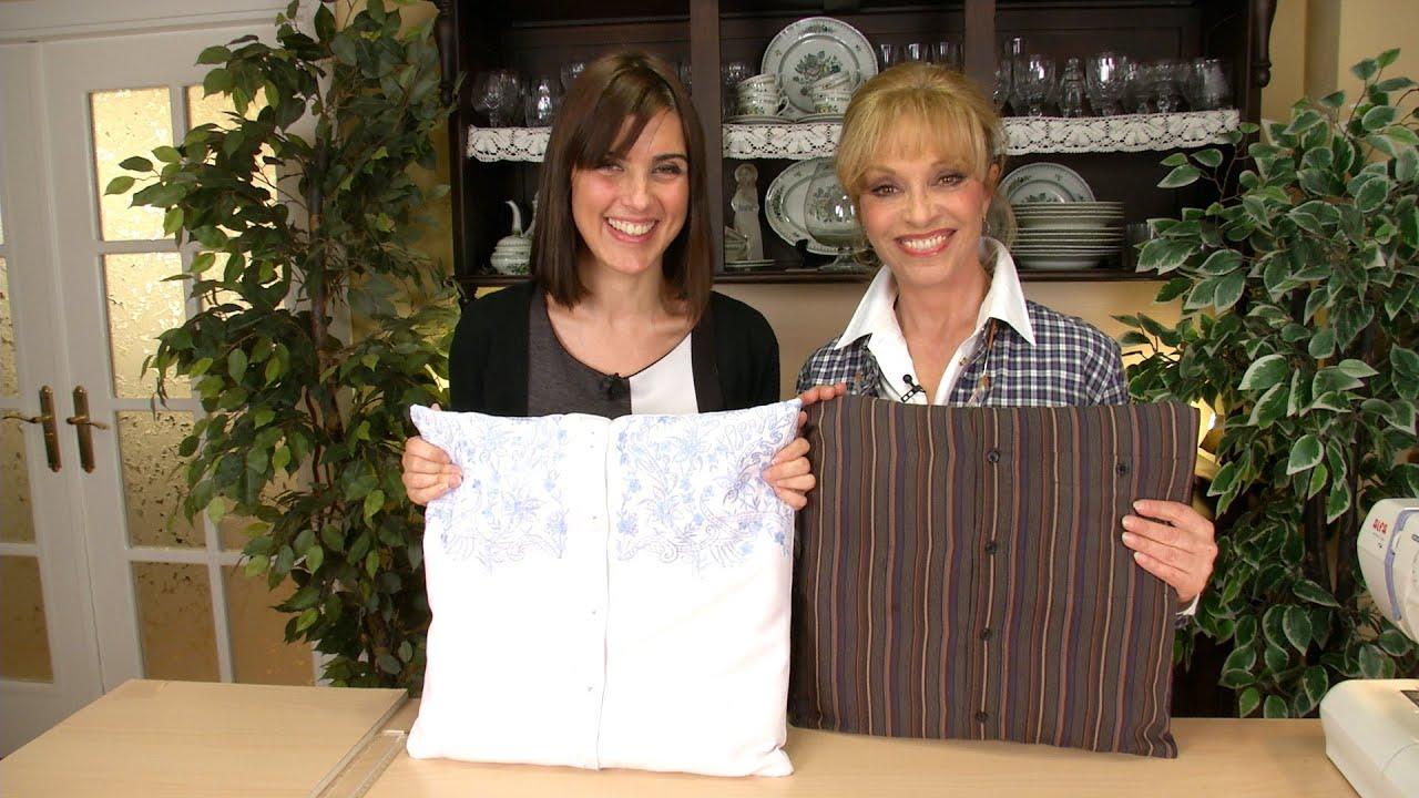 Como hacer un cojin con camisa de hombre o blusas for Construir una pileta de material