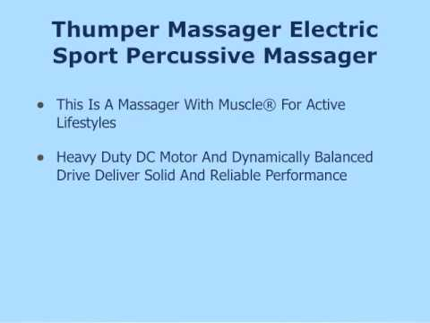 Thumper Massager Sport Percussive review