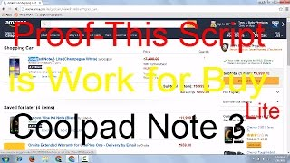 Proof-this script is work for buy coolpad note 3 lite (Amazon Flash Sale)