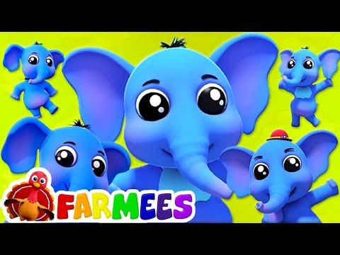 Elefant Finger Familie | Kinderlieder zum mitsingen | Farmees Deutschland | Kindergarten