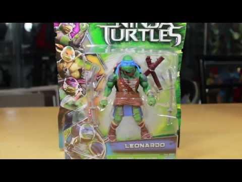 Teenage Mutant Ninja Turtles 2014 Movie Leonardo Basic Action Figure Toy Review