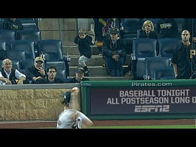 NL WC: Young Pirates fan takes batting practice