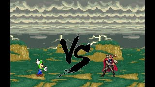 Sprite Battle - Luigi vs Thor