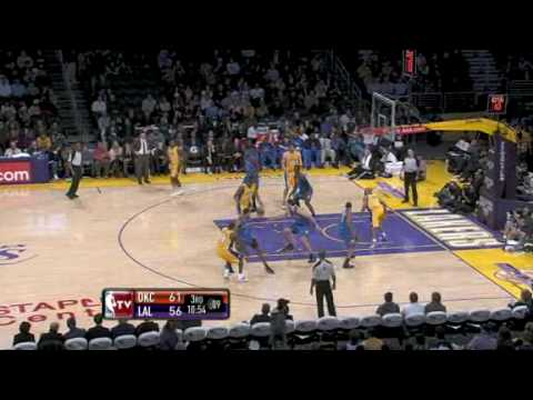 Thunder vs Lakers (NBA Highlights) 12/22/2009