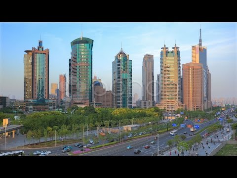 Shanghai Modern Financial Center. Time lapse.. Stock Footage
