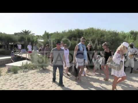 Sylvester Stallone family on the BEACH in Saint Tropez