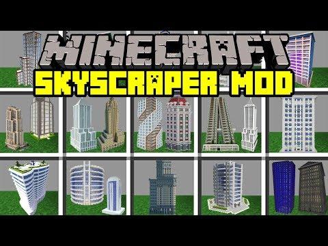 Minecraft SKYSCRAPER MOD! | BUILD WORLDS LARGET MINECRAFT BUILDINGS! | Modded Mini-Game