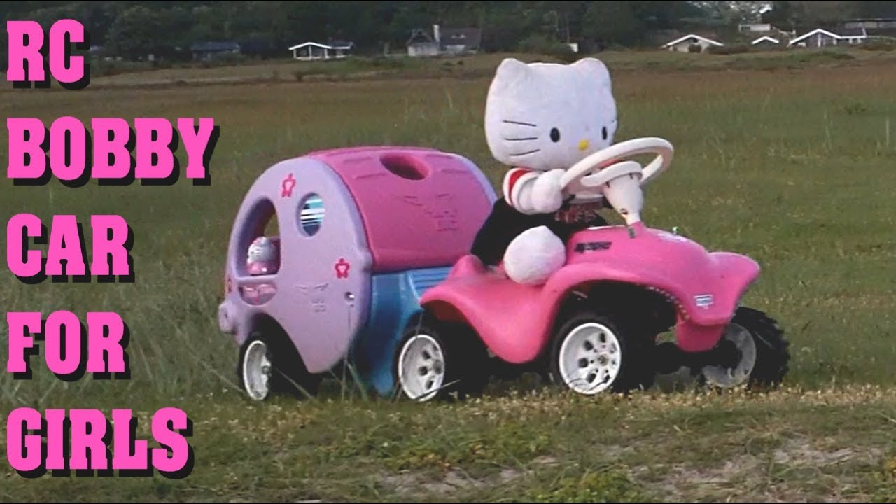 rc bobby car caravan trailer girls version hello. Black Bedroom Furniture Sets. Home Design Ideas