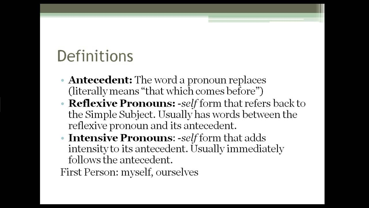 Intensive And Reflexive Pronouns Lessons Tes Teach – Reflexive and Intensive Pronouns Worksheet