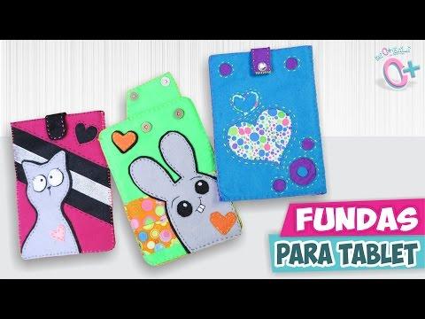 DIY✔ FUNDAS CASERAS Para Tu TABLET / IPAD  ★Así O Más Fácil★