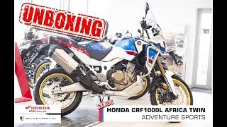 Unboxing new Honda CRF1000L Africa Twin Adventure Sports | Wilczynsky Studio