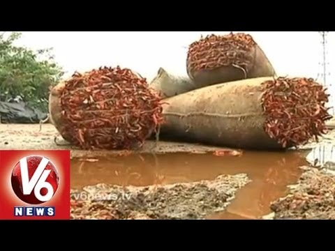 Heavy rains destroy road ways and crops in Telangana