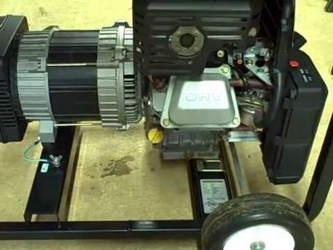 Small Engine Repair: Oil Change. Check RPM. Voltage. Frequency on Briggs & Stratton Generator