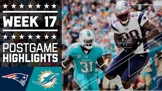 Patriots vs. Dolphins   NFL Week 17 Game Highlights