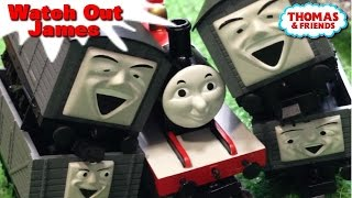 "Thomas and friends ""Watch Out,James"" トーマス プラレール ガチャガチャ ジェームス注意して!"