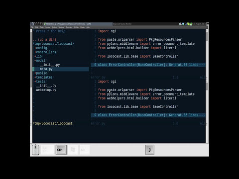 Lococast.net Screencasts Vim 1: Splits