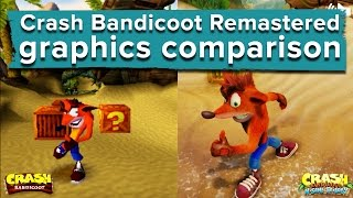 Crash Bandicoot Remastered graphics comparison - PS4 gameplay vs. PS1