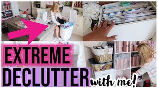 CLEAN WITH ME 2019 | ULTIMATE KONMARI OFFICE DECLUTTER + EXTREME CLEANING MOTIVATION